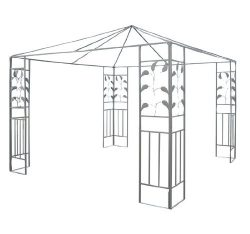 Outsunny 10′ x 10′ Steel Gazebo Frame – Leaf Design