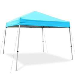 Ohuhu Pop-Up Canopy Instant Shelter W/ Wheeled Carry Bag, 10 by 10 Ft, Blue