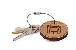 Pergola Keychain, Wood Twist Cable Keychain – Small
