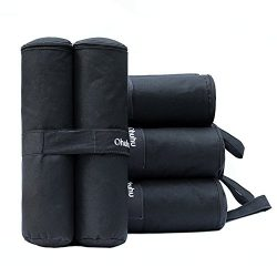 Ohuhu Canopy Weight Bags for Instant Legs Canopy Weights Sand Bags Outdoor Sun Shelter, 4-Pack