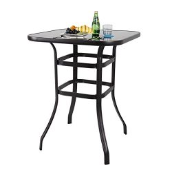 PHI VILLA Bar Height Bistro Table Outdoor Bar Table