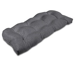 Stratford Home Eco Friendly Indoor/Outdoor Bench Cushion, Sunbrella Canvas Fabric (Charcoal) &#8 ...