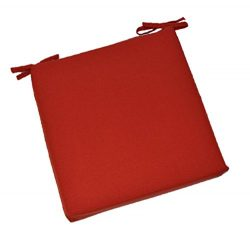Universal 2″ Thick Foam Seat Cushion with Ties for Dining / Patio Chair – Solid Red  ...