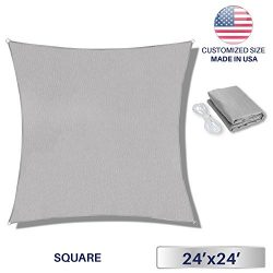 Windscreen4less Sun Shade Sail for Outdoor Patio Pool Backyard UV Block Awning with Steel D-ring ...