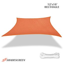 Shade Screen 12′ x 16′ Sun Shade Sail for Patio Backyard Deck UV Block Fabric &#8211 ...