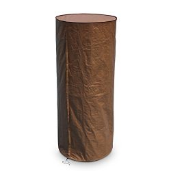 Abba Patio Round Heater Cover Outdoor Waterproof, Brown, 36″W x 75″H