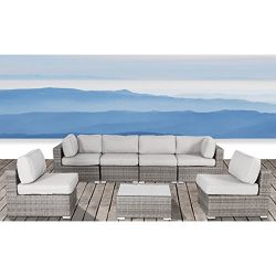 7 Pc Patio Collection Outdoor Furniture Patio Sofa Couch Garden, Backyard, Porch or Pool All-Wea ...