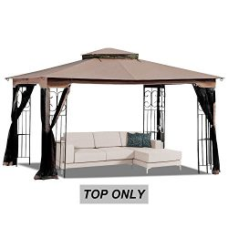 MASTERCANOPY 10′ x 12′ Gazebo Replacement Canopy Roof for Model GZ798PST-E