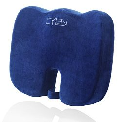 CYLEN Home-Memory Foam Bamboo Charcoal Infused Ventilated Orthopedic Seat Cushion For Car And Of ...