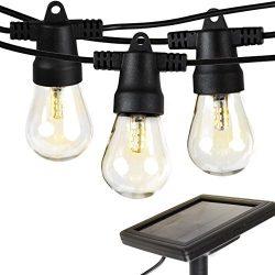 Brightech Ambience Pro Solar Powered LED String Lights – 1 Watt S14 Vintage Edison Style B ...