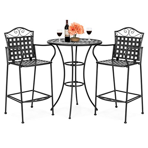 Best Choice Products 3-Piece Woven Pattern Wrought Iron