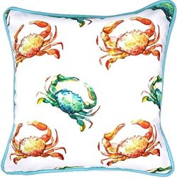 Sea By Day UV / Water Resistant Premium Outdoor Pillows Cushions for Patio Furniture (Crab Crossing)