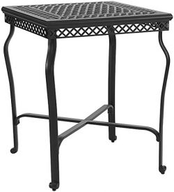 Crosley Furniture Portofino Outdoor Aluminum Bar-Height Bistro Table – Black