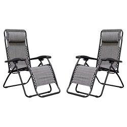 Caravan Sports Infinity Zero Gravity Chair – 2 Pack, Grey