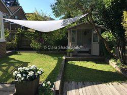 8 pins & Clara Shade Sail Garden Sun Sail Waterproof 98% UV Premium Canopy ...