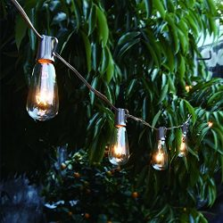 20ft Outdoor Patio String lights with 21 ST35 Edison Bulb(1 Extra), MYHH-LITES UL Listed for Ind ...