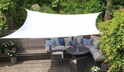 Clara Shade Sail Waterproof UV Sun Block Garden Patio Canopy Awning Outdoor Indoor Rectangle 20& ...