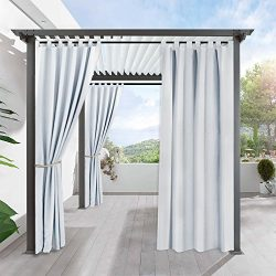 Pergola Outdoor Privacy Curtain Panel – RYB HOME Blackout Curtains Outdoor Décor Top Tab W ...