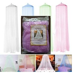 S.P.S Elegant Round Curtain Bed Mesh Canopy Netting Mosquito Net for Twin Bed Only (Purple)