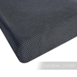 Chunyi Jacquard Polyester Spandex Cushion Slipcover (Chair Cushion, Gray)
