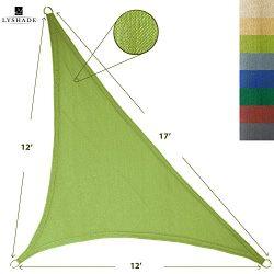 LyShade 12′ x 12′ x 17′ Right Triangle Sun Shade Sail Canopy (Lime Green) &#82 ...