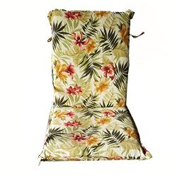 Nattork Floral Patio Cushion For High Back Chairs Not Fade,Water-Resistant & Uv-Resistant Se ...