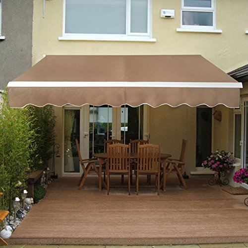 Super Deal Manual Retractable Patio Deck Awning Sunshade