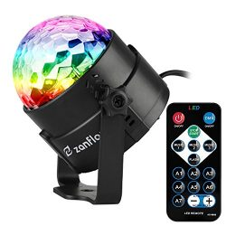 Zanflare Sound Activated Party Lights with Remote Control, 7 Lighting Color Modes Stage Par Ligh ...