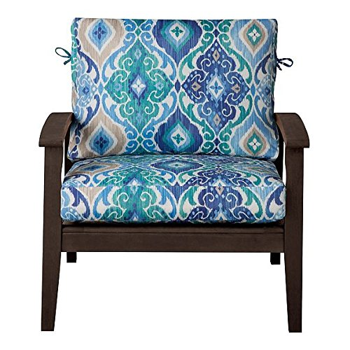 Outdoor patio deep seat relaxed chair cushion set seasonal replacement cushions 17 x24 x4 1 2 - Deep seat patio cushions replacements ...