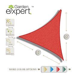 Garden EXPERT 12'x12'x12′ Triangle Knitting Sun Shade Sail for Garden,Outdoor  ...