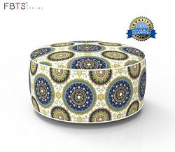Inflatable Stool Ottoman Portable Travel Bean Bag Cushion Indoor/Outdoor Round Inflatable Footst ...