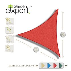 Garden EXPERT 10'x10'x10′ Triangle Knitting Sun Shade Sail for Garden,Outdoor  ...