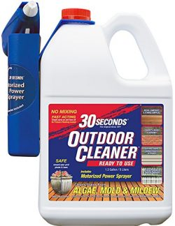 30 SECONDS Outdoor Cleaner, 1.3 Gallon – Ready-to-Use with Motorized Power Sprayer