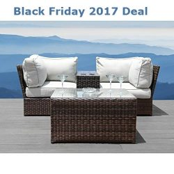 Patio Sofa Set : Lucca 4-piece Cup Table Set by Living Source International (4-piece Cup Table Set)