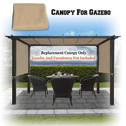 BenefitUSA 18′ x 8.3′ Universal Replacement Canopy Top Cover for Pergola Structure ( ...