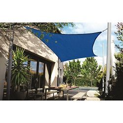 "DOEWORKS Rectangle 13′ X 19'8"" Sun Shade Sail with Stainless Steel Hardware Ki ..."