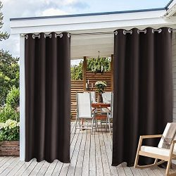Window Treatments Outdoor Curtain Drapes – PONY DANCE All Season Waterproof Eyelet Top Rus ...
