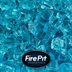Tahitian Blue Azuria – Fire Glass for Indoor and Outdoor Fire Pits or Fireplaces | 10 Poun ...