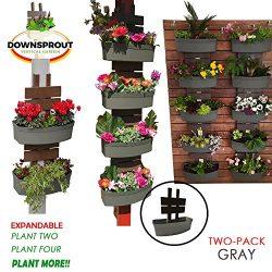 Downsprout Vertical Planter, Gutter Garden, Post Planter, Pergola Post Planter, Deck Planter, Li ...