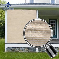 Alion Home Sun Block Privacy Shade Panel with Grommets on 2 Sides for Patio, Awning, Window Cove ...