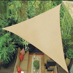 Belle Dura 12′ x 12′ x 12′ Sun Shade Sails Canopy Right Triangle Sand, 185GSM  ...