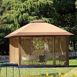 Suntime 12′ x 12′ Patio Outdoor Pop Up Portable Shade Instant Folding Gazebo with Mo ...