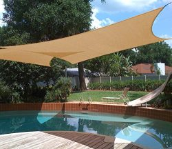 Shade&Beyond 10'x13′ Rectangle Sun Shade Sail Canopy for Patio with D rings