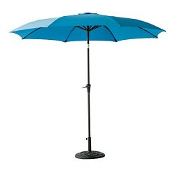 FLAME&SHADE 10′ Patio Outdoor Market Umbrella with Crank Lift, Fiberglass Rib Tips, Pu ...