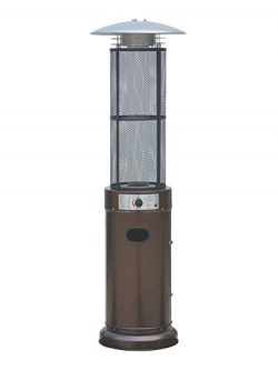 Belleze Circle Round Pyramid Outdoor Home Commercial Glass Tube with Flames Heater Patio Heater, ...