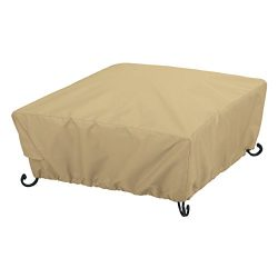 Classic Accessories Terrazzo Full Coverage Square Fire Pit Cover – All Weather Protection  ...