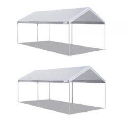 Caravan Canopy* 10 X 20-Feet Domain Carport, White – 2 Packs