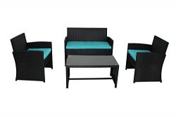 Outdoor Rattan Wicker Sofa Set Garden Patio Furniture Cushioned Sectional Conversation Sets-Easy ...