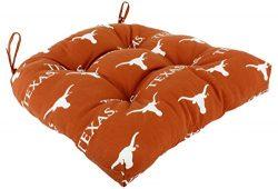 College Covers TEXDC Texas Longhorns Seat Cushion Patio D Cushion, Orange, 20″ x 20″