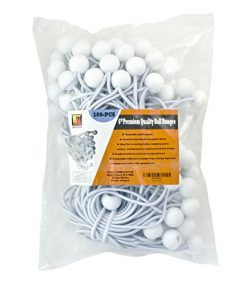 6″ 100 Piece Ball Bungee Canopy Cord By Wellmax | Ideal for Tarps, Tents, Wire Racks, and  ...